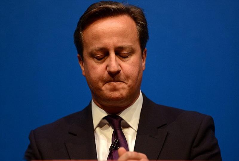 """卡梅伦哽咽吁苏格兰勿独立 称独立是""""痛苦的离婚"""""""