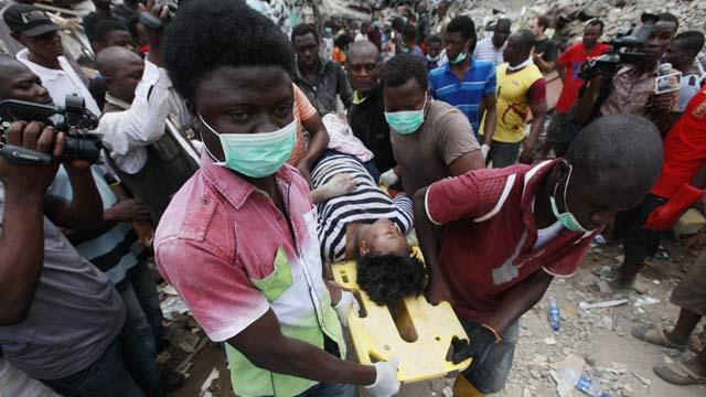 尼日利亚一宾馆倒塌已致46人遇难 130人受伤