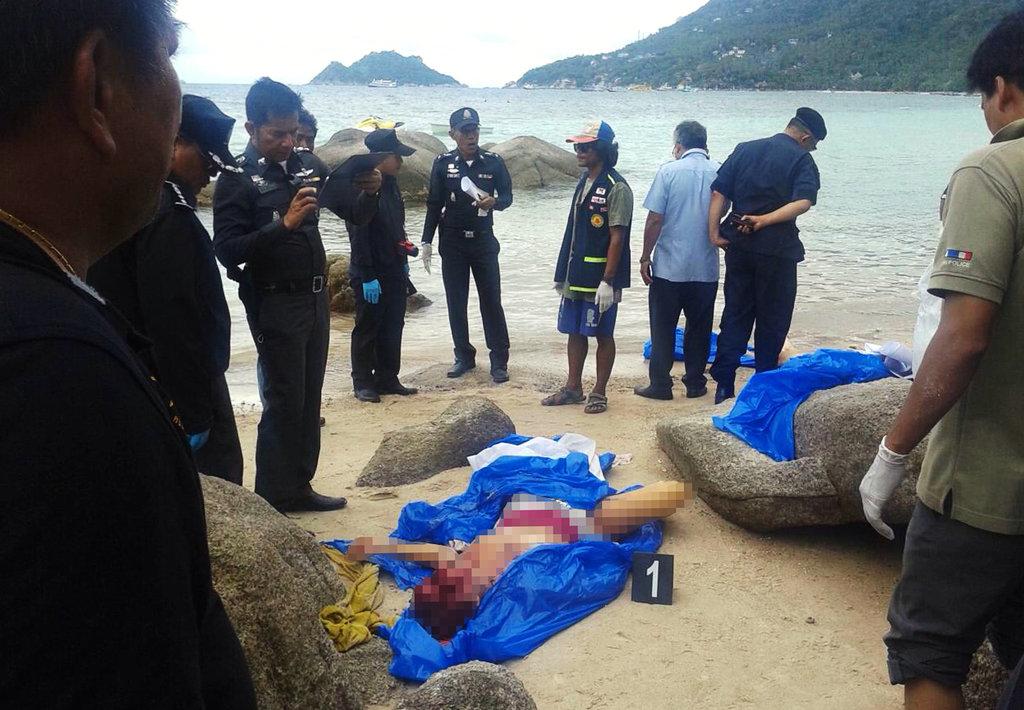 两名英国游客裸死泰国海滩 被害女性生前照曝光