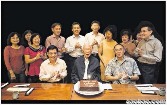 新加坡总理李光耀91岁大寿 Facebook上谢祝福
