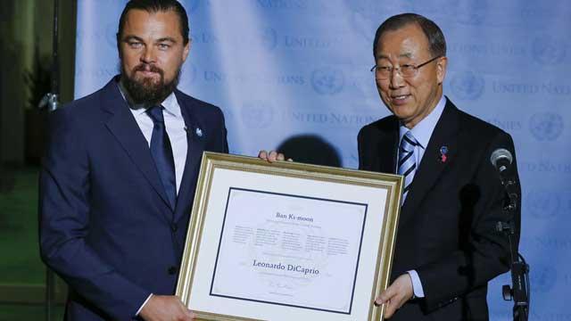 莱昂纳多授任联合国和平使者