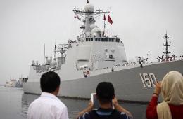 中国海军首次访问伊朗 东海舰队052C旗舰带队