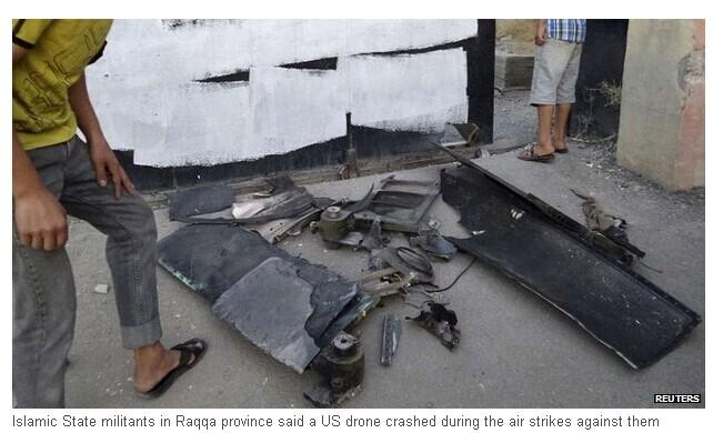 美军在空袭首日损失无人机 叙利亚发布照片