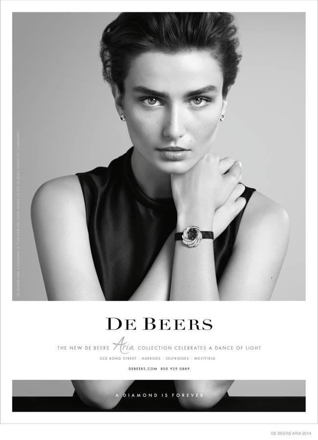 钻石珠宝品牌de beers最新广告优雅动人图片