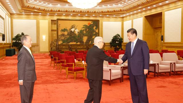 习近平会见台湾和平统一团体联合参访团