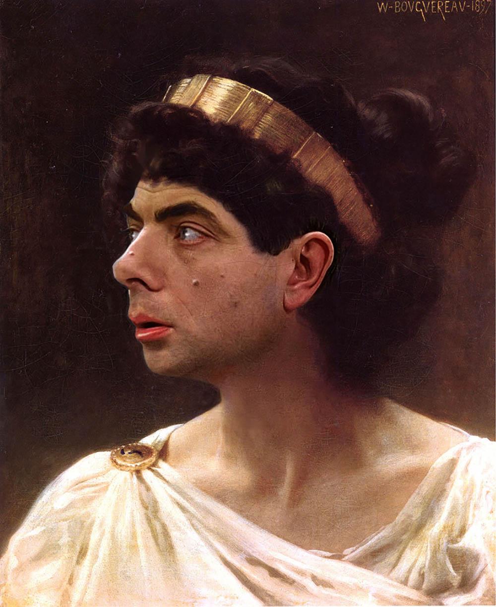 如果油画人物都是憨豆先生