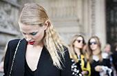 2015春夏巴黎时装周潮人街拍 卖力凹造型抢镜