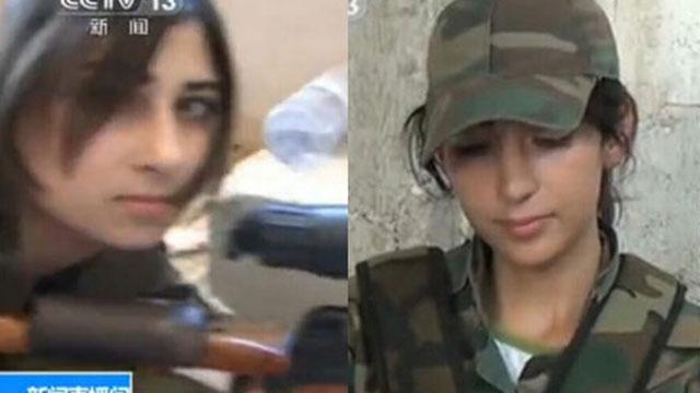央视探访叙利亚女狙击手部队