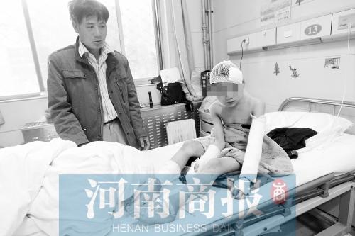 郑州:6岁男孩失踪5小时身中6刀 皮肤遭烟头烫伤