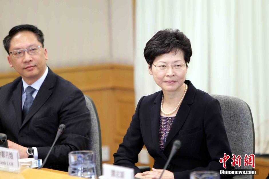 香港特区政府政务司长林郑月娥与学联代表会面