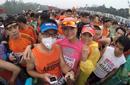 北京马拉松:小口罩引发环境大拷问