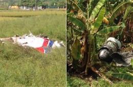 台湾一架军机坠机 全机肢离破碎散落农田