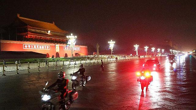 我国恢复来访国宾车队摩托车护卫