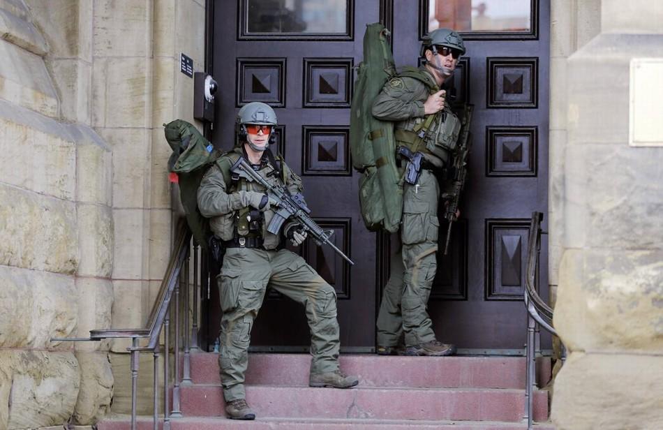 加拿大国会大厦响起一连串枪声