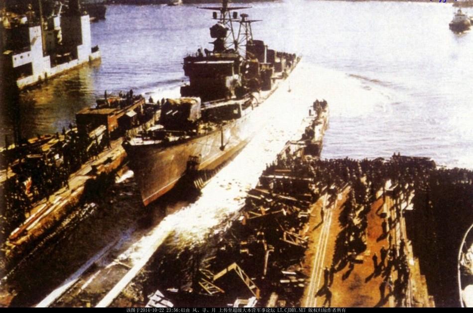 中国海军历代主力驱逐舰下水照