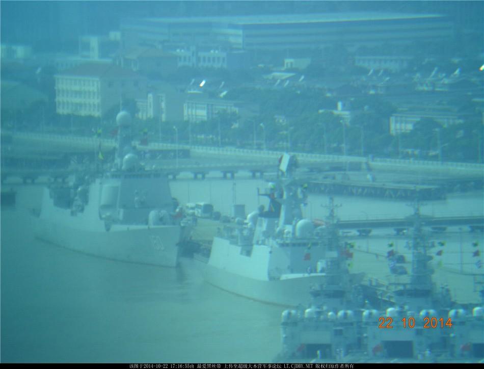 东海舰队4艘神盾舰罕见齐聚