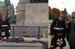加拿大国会大厦枪击案身亡士兵生前执勤照曝光