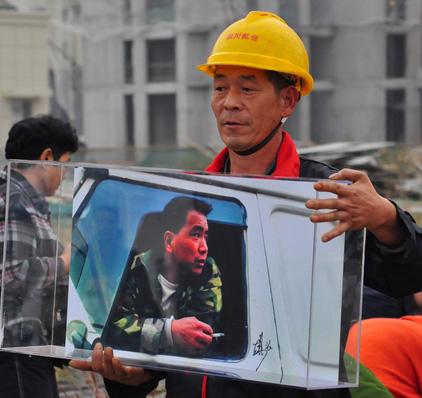 以手机记录建筑工人生活展览