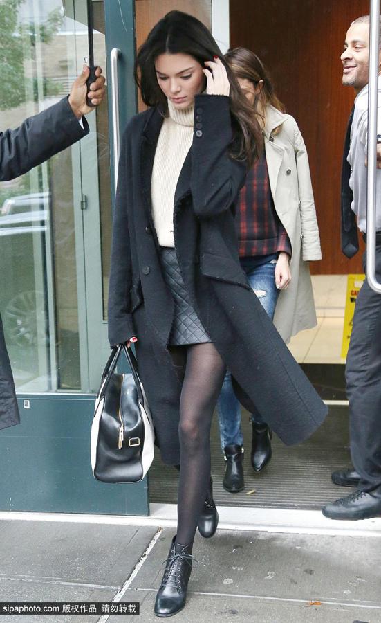 肯达尔·詹娜10月23日纽约街拍