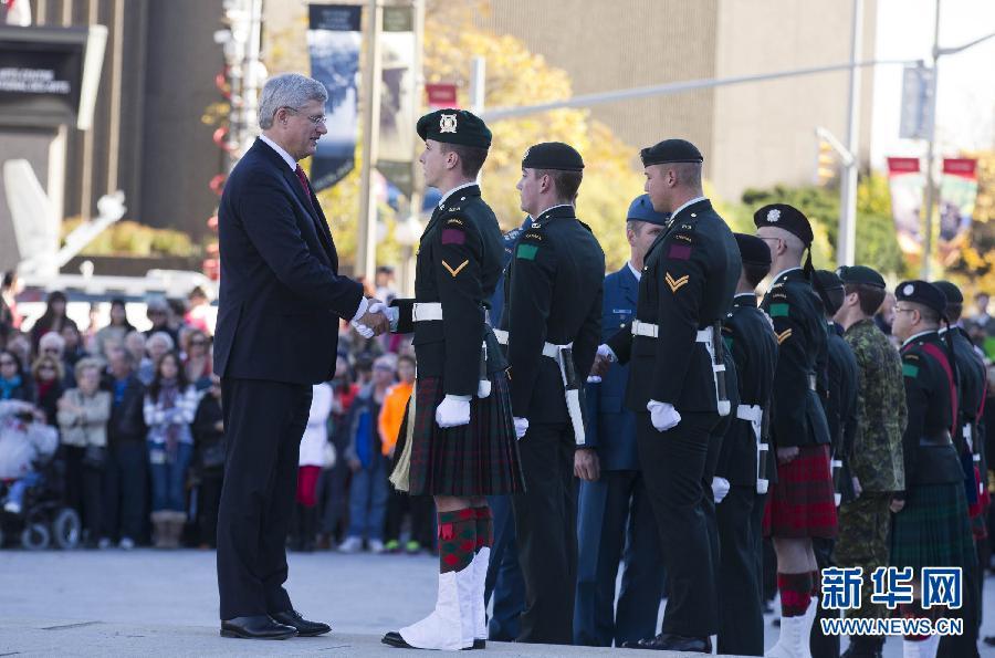 加拿大首都国家战争纪念碑护卫执勤恢复
