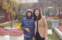 泰国前总理英拉携儿子雾霾中游北京