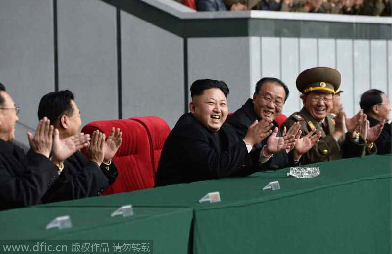 金正恩频繁露面 观看朝鲜女足比赛