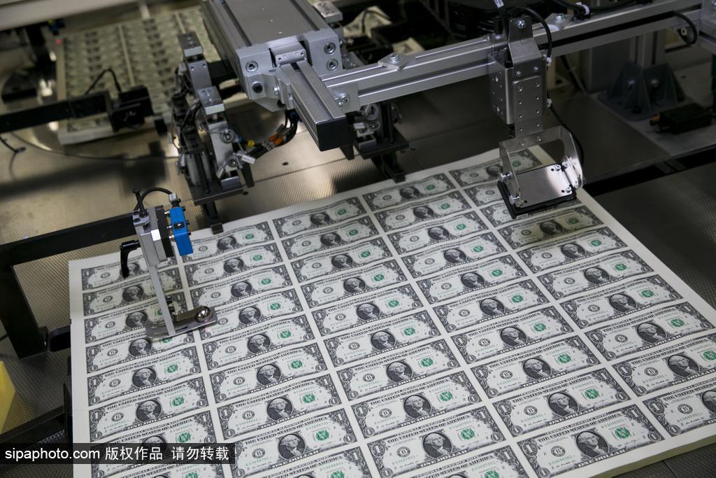 记者实拍美钞制作过程