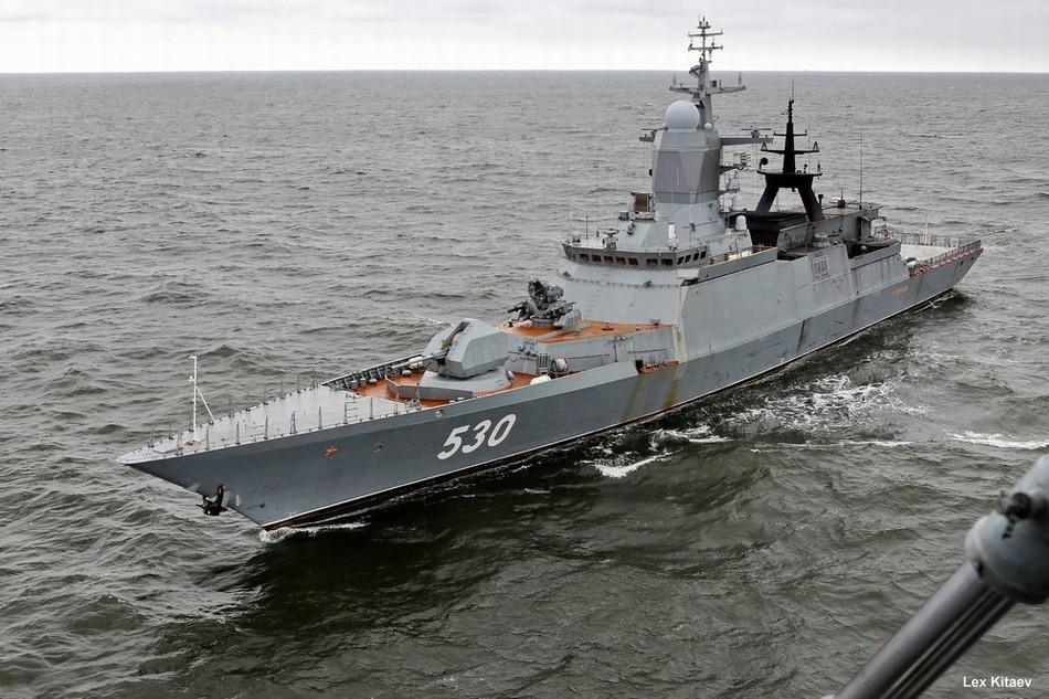"""俄海军轻护桅杆上顶着个""""球"""""""