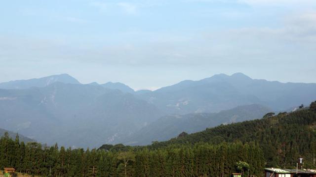 张学良在台湾幽禁地新竹五峰乡群山掠影