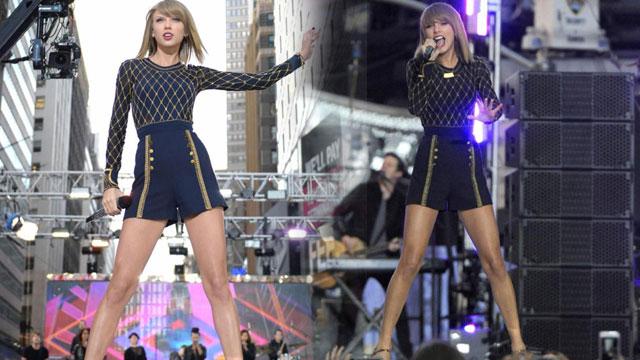 泰勒•斯威夫特唱响纽约时代广场