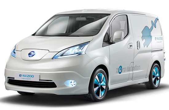 日产开售首款商用电动车e-NV200 续航190km
