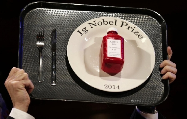 """科学也幽默 2014年度""""搞笑诺贝尔奖""""公布结果"""
