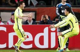 阿贾克斯0-2巴萨 梅西两球平劳尔纪录