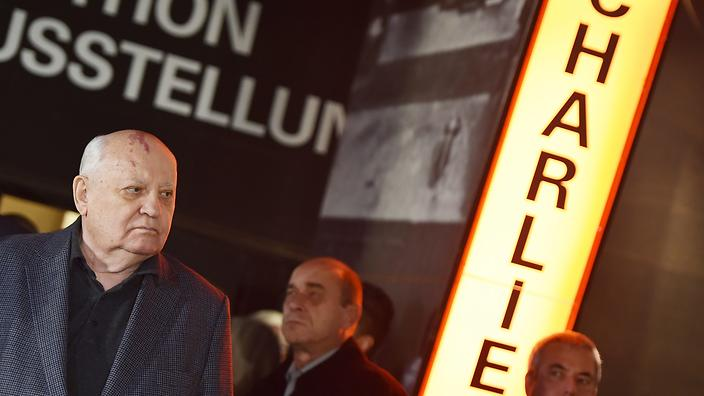 戈尔巴乔夫访问柏林墙:俄德友好 全球受益