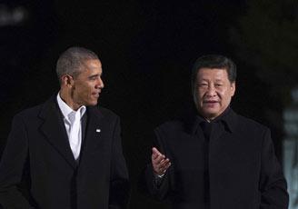 习近平同美国总统奥巴马在中南海会晤