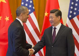 习近平为美国总统奥巴马举行欢迎仪式