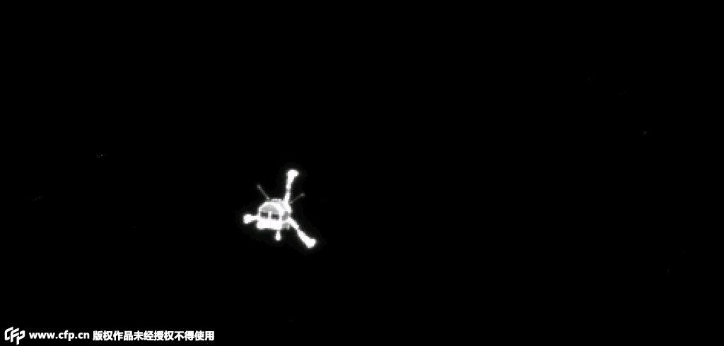 """人类探测器首成功登陆彗星 欧航局公布""""菲莱""""照片"""
