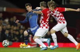阿根廷2-1克罗地亚 特维斯三年后国家队首秀