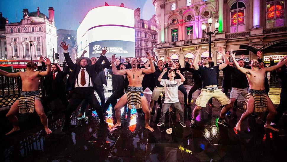 英国全球创业周 毛利人大跳传统哈卡舞