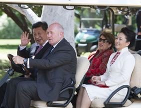 习近平和夫人参观澳大利亚总督府