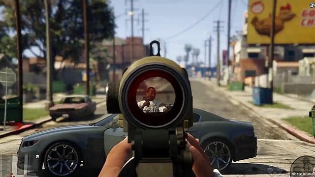 《GTA5》第一人称射击演示 感受最真实射杀