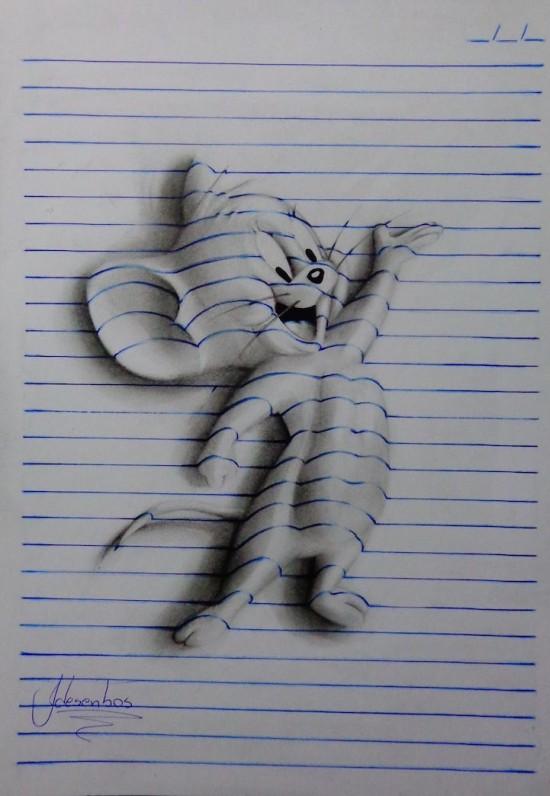 巴西少年创作3D立体画栩栩如生 创作|栩栩如生