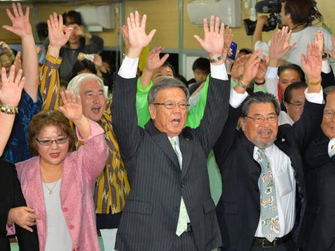 """蒋述日本:冲绳知事选举""""叫板""""安倍政权"""