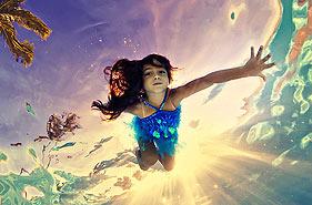 奇趣儿童水下摄影 爱丽丝梦游水世界