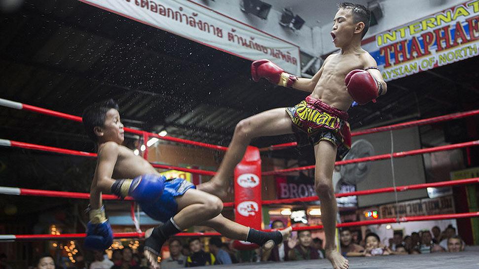 实拍泰国儿童拳击手 卖命搏击只为谋生