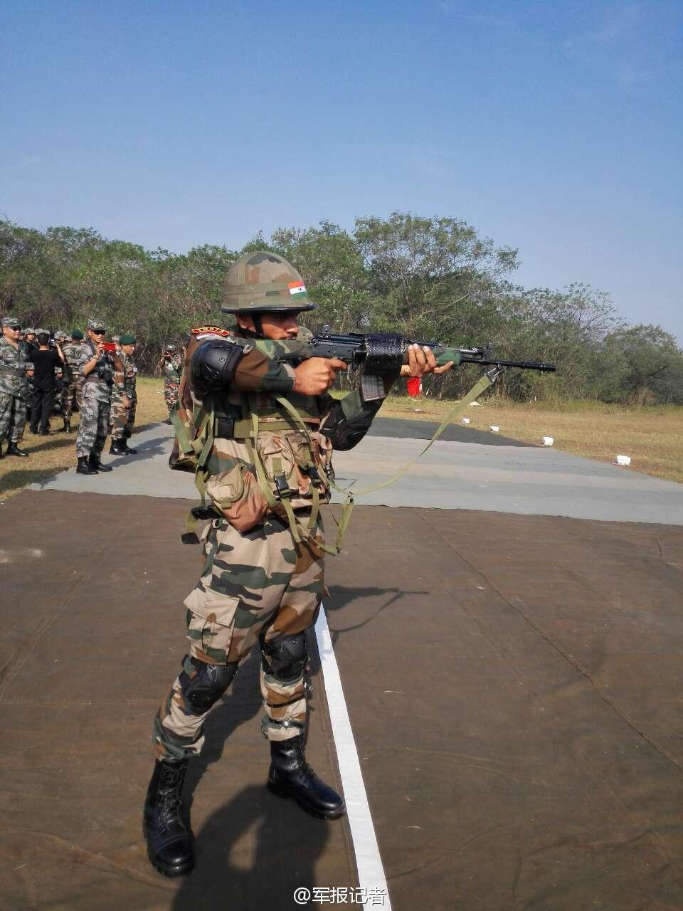 中印精锐部队比拼枪法谁更准?