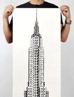 艺术家以自行车胎为画笔绘世界建筑