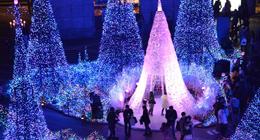 """东京25万盏灯光营造""""蓝色海洋"""""""