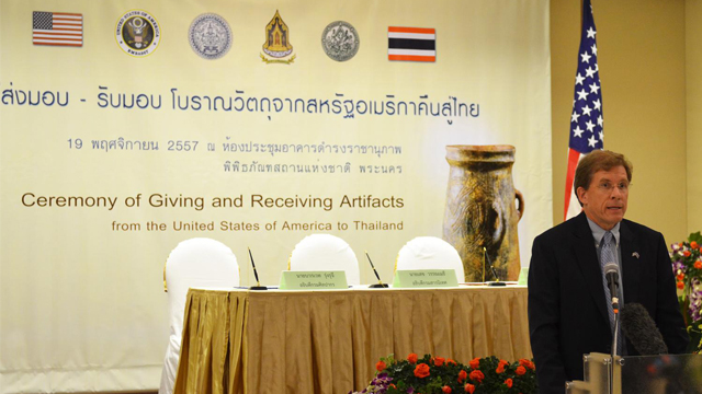 美国一次性归还泰国7000件失窃古文物(图)