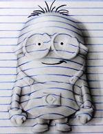 巴西少年创作3D立体画栩栩如生